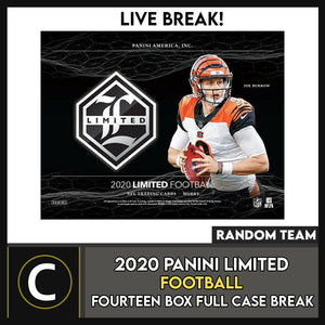 2020 PANINI LIMITED FOOTBALL 14 BOX (FULL CASE) BREAK #F653 - RANDOM TEAMS