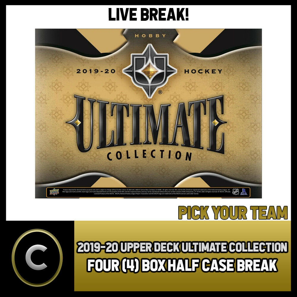 2019-20 UPPER DECK ULTIMATE HOCKEY 4 BOX HALF CASE BREAK #H965 - PICK YOUR TEAM