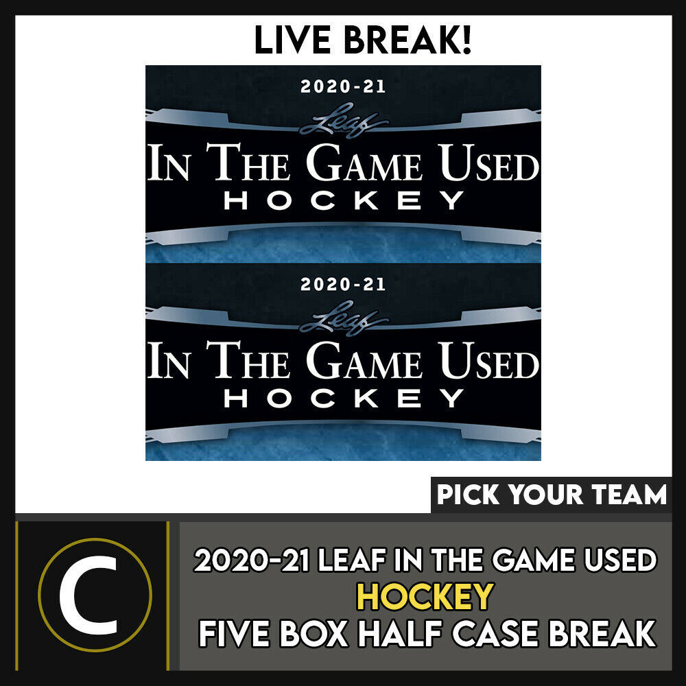 2020-21 LEAF IN THE GAME USED HOCKEY 5 BOX BREAK #H1063 - PICK YOUR TEAM