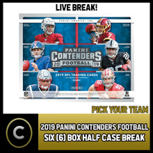 Load image into Gallery viewer, 2019 PANINI CONTENDERS NFL 6 BOX (HALF CASE) BREAK #F409 - PICK YOUR TEAM