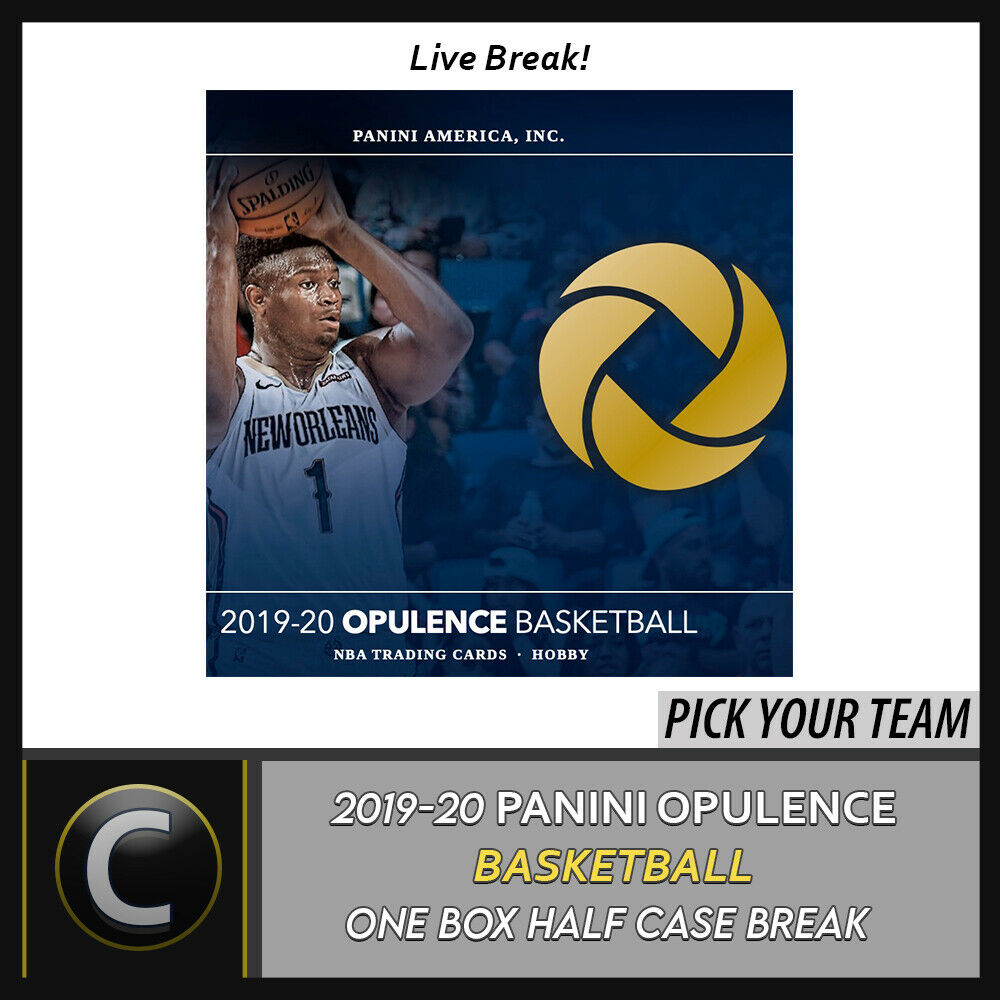 2019-20 PANINI OPULENCE BASKETBAL 1 BOX (HALF CASE) BREAK #B444 - PICK YOUR TEAM