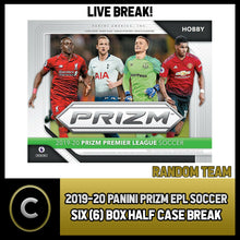 Load image into Gallery viewer, 2019/20 PANINI PRIZM EPL SOCCER 6 BOX (HALF CASE) BREAK #S065 - RANDOM TEAMS -