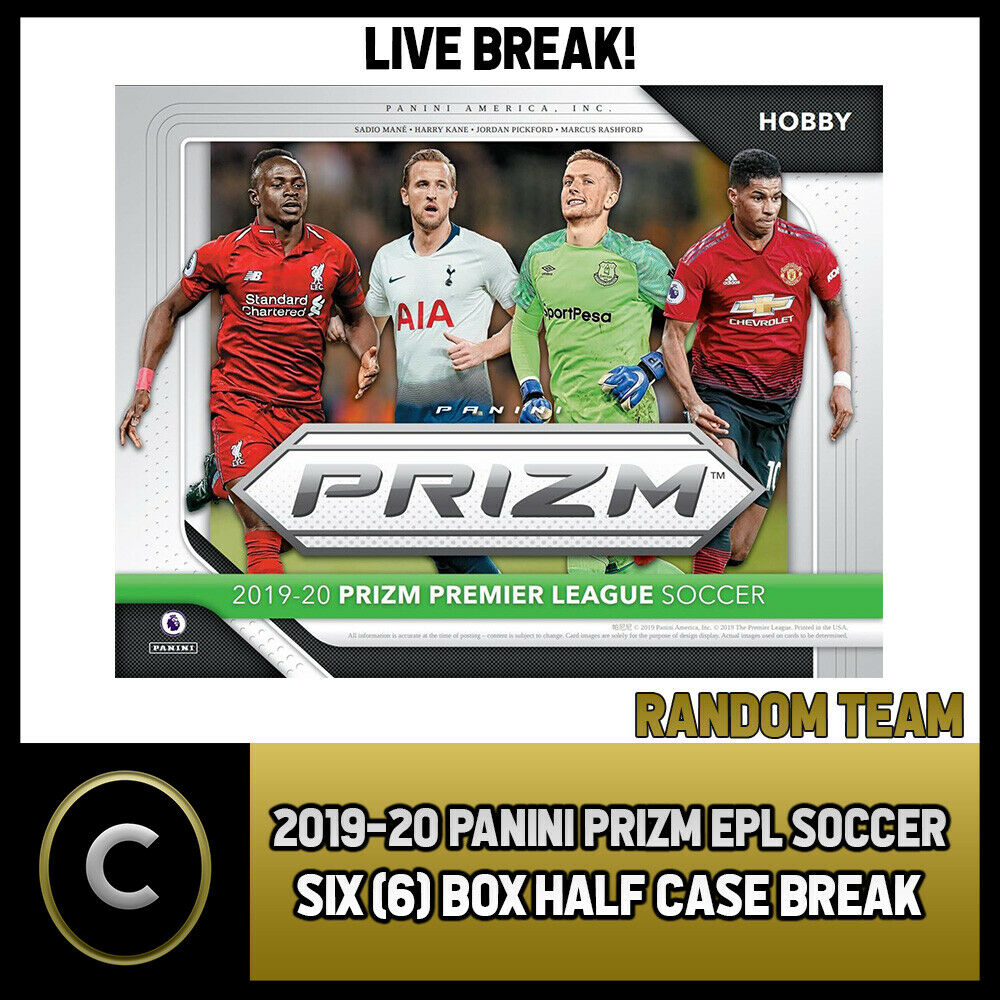 2019/20 PANINI PRIZM EPL SOCCER 6 BOX (HALF CASE) BREAK #S065 - RANDOM TEAMS -