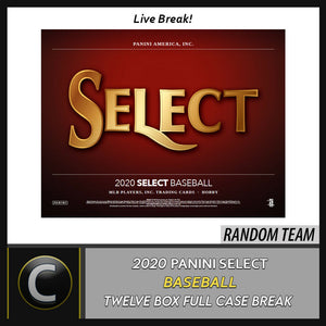 2020 PANINI SELECT BASEBALL 12 BOX (FULL CASE) BREAK #A814 - RANDOM TEAMS