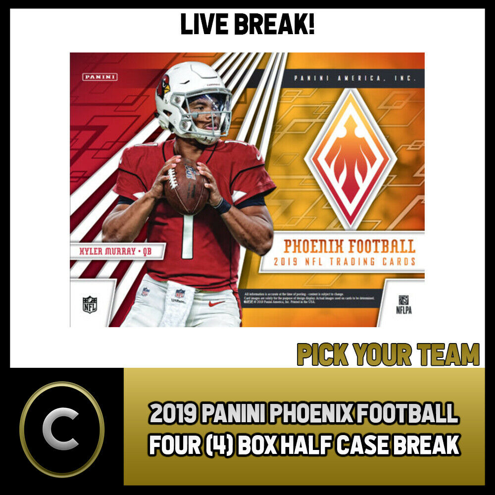 2019 PANINI PHOENIX FOOTBALL 4 BOX (HALF CASE) BREAK #F476 - PICK YOUR TEAM