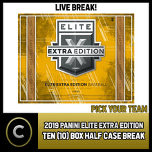 Load image into Gallery viewer, 2019 PANINI ELITE EXTRA BASEBALL 10 BOX (HALF CASE) BREAK #A604 - PICK YOUR TEAM