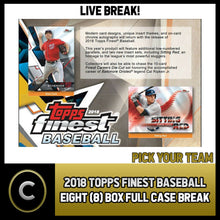 Load image into Gallery viewer, 2018 TOPPS FINEST BASEBALL 8 BOX (FULL CASE) BREAK #A157 - PICK YOUR TEAM