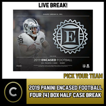 Load image into Gallery viewer, 2019 PANINI ENCASED FOOTBALL 4 BOX (HALF CASE) BREAK #F394 - PICK YOUR TEAM