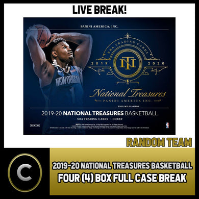 2019-20 NATIONAL TREASURES BASKETBALL 4 BOX (CASE) BREAK #B447 - RANDOM TEAMS