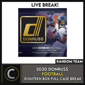2020 PANINI DONRUSS FOOTBALL 18 BOX (FULL CASE) BREAK #F535 - RANDOM TEAMS