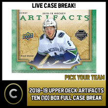 Load image into Gallery viewer, 2018-19 UPPER DECK ARTIFACTS TEN BOX FULL CASE BREAK #H120 - PICK YOUR TEAM -