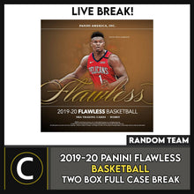 Load image into Gallery viewer, 2019-20 PANINI FLAWLESS BASKETBALL 2 BOX (FULL CASE) BREAK #B554 - RANDOM TEAMS