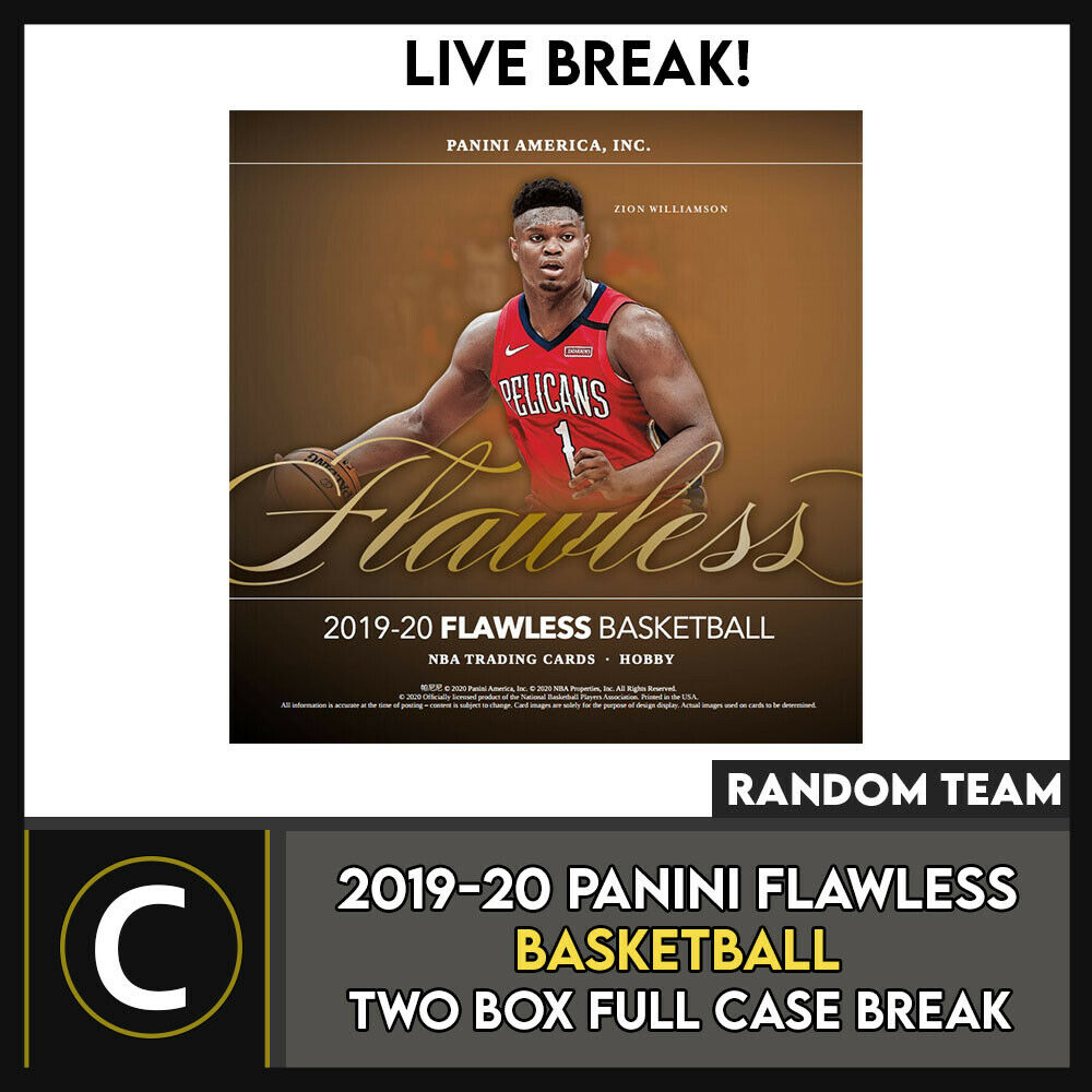2019-20 PANINI FLAWLESS BASKETBALL 2 BOX (FULL CASE) BREAK #B554 - RANDOM TEAMS