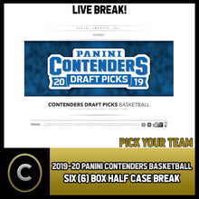 Load image into Gallery viewer, 2019-20 PANINI CONTENDERS DRAFT 6 BOX (HALF CASE) BREAK #B237 - PICK YOUR TEAM