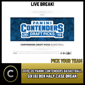 2019-20 PANINI CONTENDERS DRAFT 6 BOX (HALF CASE) BREAK #B237 - PICK YOUR TEAM