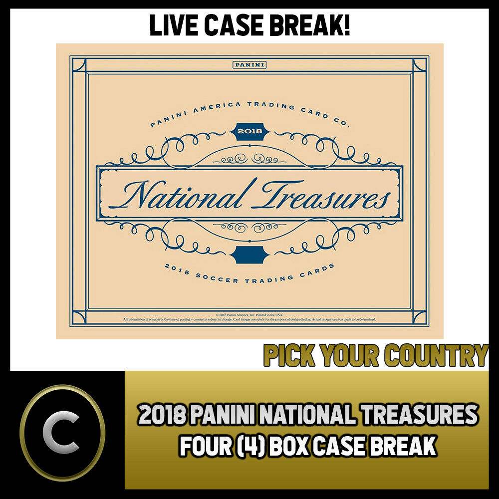 2018 PANINI NATIONAL TREASURES SOCCER 4 BOX (CASE) BREAK #S076 PICK YOUR COUNTRY