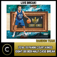 Load image into Gallery viewer, 2018-19 PANINI COURT KINGS BASKETBALL 8 BOX 1/2 CASE BREAK #B463 PICK YOUR TEAM