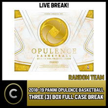 Load image into Gallery viewer, 2018-19 PANINI OPULENCE BASKETBALL 3 BOX CASE BREAK #B185 - RANDOM TEAMS