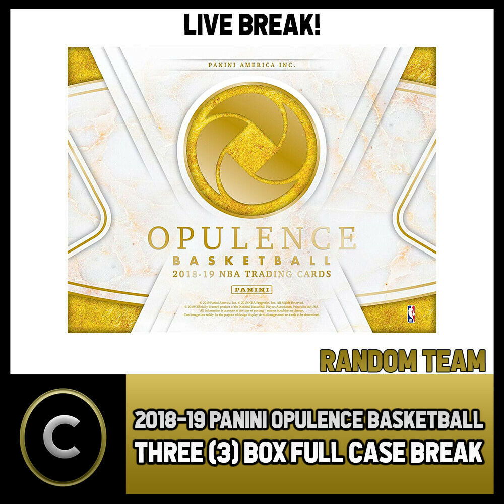 2018-19 PANINI OPULENCE BASKETBALL 3 BOX CASE BREAK #B185 - RANDOM TEAMS