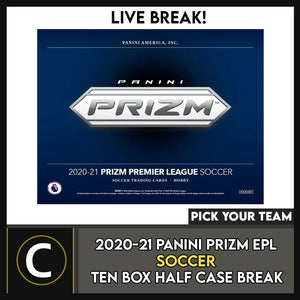 2020/21 PANINI PRIZM EPL SOCCER 6 BOX (HALF CASE) BREAK #S136 - PICK YOUR TEAM