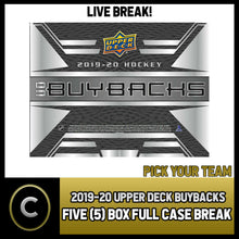Load image into Gallery viewer, 2019-20 UPPER DECK BUYBACKS HOCKEY 5 BOX FULL CASE BREAK #H944 - PICK YOUR TEAM