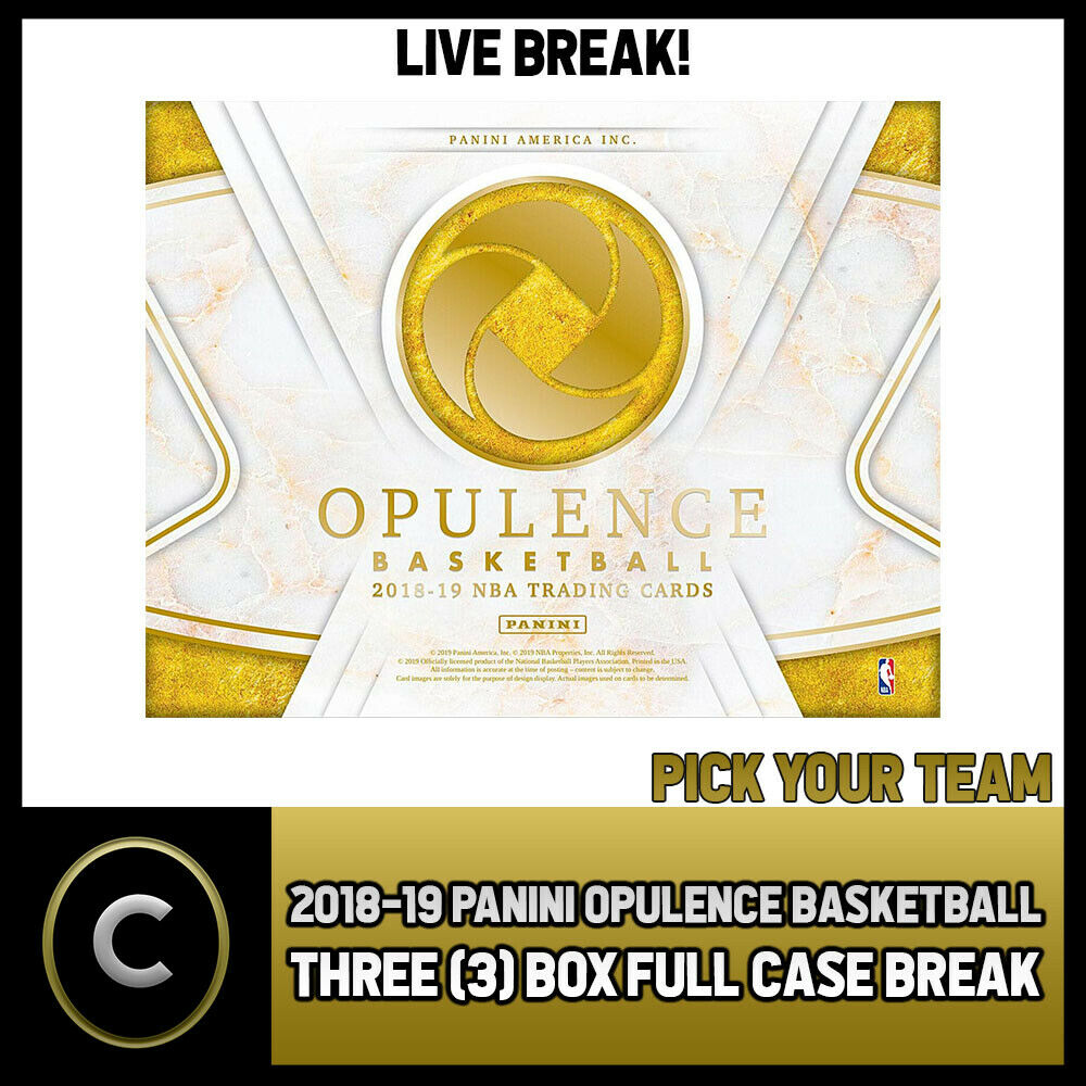 2018-19 PANINI OPULENCE BASKETBALL 3 BOX (CASE) BREAK #B184 - PICK YOUR TEAM -