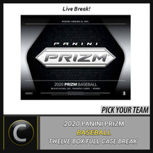 Load image into Gallery viewer, 2020 PANINI PRIZM BASEBALL 12 BOX (FULL CASE) BREAK #A834 - PICK YOUR TEAM