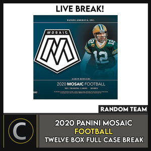 2020 PANINI MOSAIC FOOTBALL 12 BOX (FULL CASE) BREAK #F541 - RANDOM TEAMS