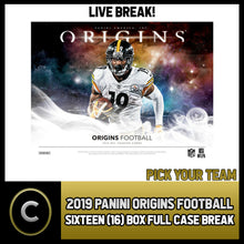 Load image into Gallery viewer, 2019 PANINI ORIGINS FOOTBALL 16 BOX (FULL CASE) BREAK #F257 - PICK YOUR TEAM