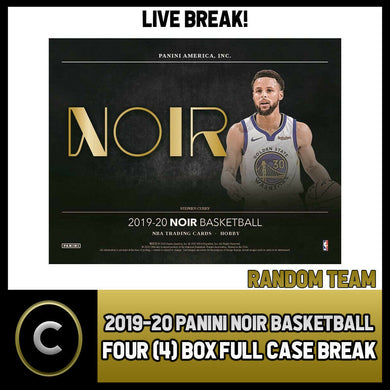 2019-20 PANINI NOIR BASKETBALL 4 BOX (FULL CASE) BREAK #B392 - RANDOM TEAMS