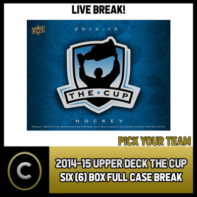 2014-15 UPPER DECK THE CUP HOCKEY 6 BOX (FULL CASE) BREAK #H563 - PICK YOUR TEAM