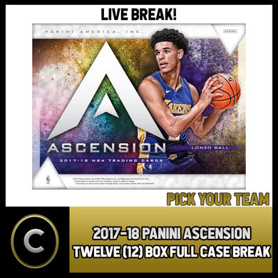 2017-18 PANINI ASCENSION 12 BOX FULL CASE BREAK #B029 - PICK YOUR TEAM -
