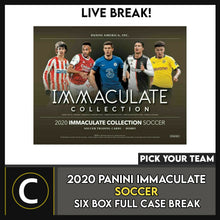 Load image into Gallery viewer, 2020 PANINI IMMACULATE SOCCER 6 BOX (FULL CASE) BREAK #S117 - PICK YOUR TEAM