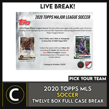 Load image into Gallery viewer, 2020 TOPPS MLS SOCCER 12 BOX (FULL CASE) BREAK #S115 - PICK YOUR TEAM