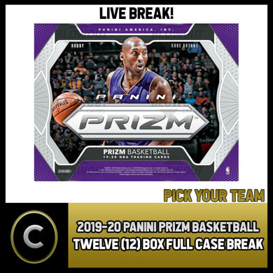 2019-20 PANINI PRIZM BASKETBALL 12 BOX (FULL CASE) BREAK #B291 - PICK YOUR TEAM