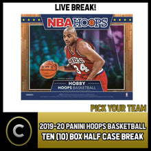 Load image into Gallery viewer, 2019-20 PANINI HOOPS BASKETBALL 10 BOX (HALF CASE) BREAK #B250 - PICK YOUR TEAM
