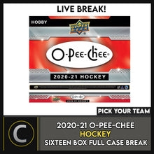 Load image into Gallery viewer, 2020-21 O-PEE-CHEE HOCKEY 16 HOBBY BOX (FULL CASE) BREAK #H901 - PICK YOUR TEAM