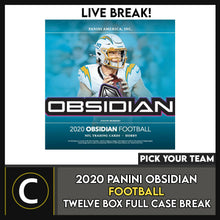 Load image into Gallery viewer, 2020 PANINI OBSIDIAN FOOTBALL 12 BOX (FULL CASE) BREAK #F642 - PICK YOUR TEAM