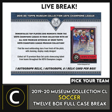 Load image into Gallery viewer, 2019-20 TOPPS UEFA MUSEUM SOCCER 12 BOX (FULL CASE) BREAK #S113 - PICK YOUR TEAM