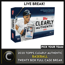 Load image into Gallery viewer, 2020 TOPPS CLEARLY AUTHENTIC 20 BOX (FULL CASE) BREAK #A852 - PICK YOUR TEAM