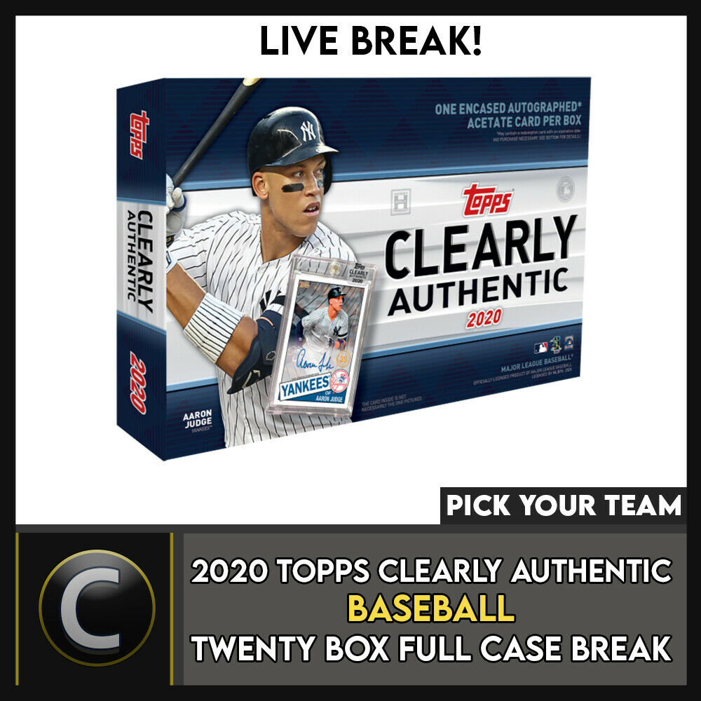 2020 TOPPS CLEARLY AUTHENTIC 20 BOX (FULL CASE) BREAK #A852 - PICK YOUR TEAM
