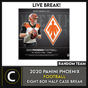 2020 PANINI PHOENIX FOOTBALL 8 BOX (HALF CASE) BREAK #F584 - RANDOM TEAMS