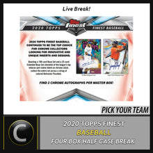 Load image into Gallery viewer, 2020 TOPPS FINEST BASEBALL 4 BOX (HALF CASE) BREAK #A952 - PICK YOUR TEAM