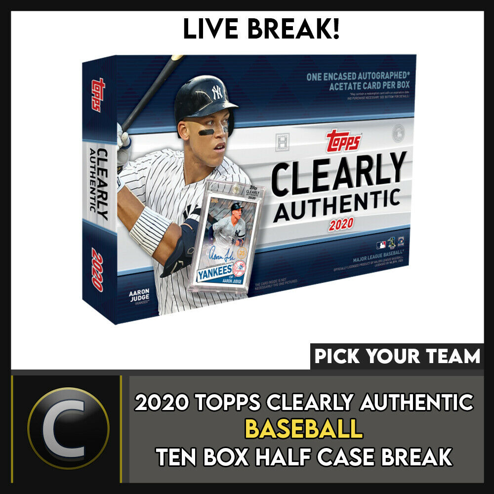 2020 TOPPS CLEARLY AUTHENTIC 10 BOX HALF CASE BREAK #A853 - PICK YOUR TEAM