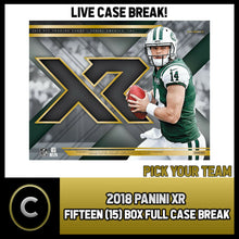 Load image into Gallery viewer, 2018 PANINI XR FOOTBALL 15 BOX FULL CASE BREAK #F038 - PICK YOUR TEAM