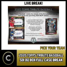 Load image into Gallery viewer, 2020 TOPPS TRIBUTE BASEBALL 6 BOX (FULL CASE) BREAK #A775 - PICK YOUR TEAM