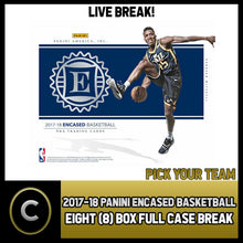 Load image into Gallery viewer, 2017-18 PANINI ENCASED BASKETBALL 8 BOX (FULL CASE) BREAK #B115 - PICK YOUR TEAM