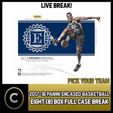2017-18 PANINI ENCASED BASKETBALL 8 BOX (FULL CASE) BREAK #B115 - PICK YOUR TEAM