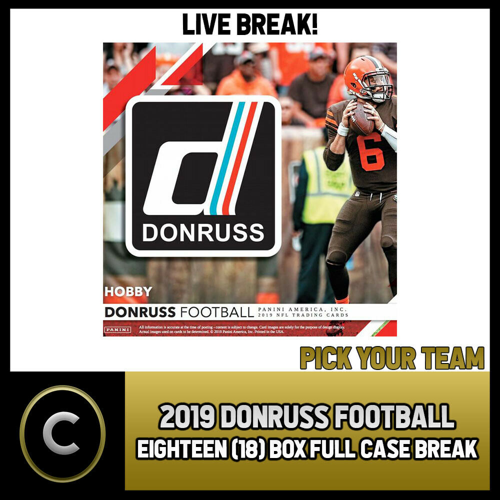 2019 DONRUSS FOOTBALL 18 BOX (FULL CASE) BREAK #F245 - PICK YOUR TEAM