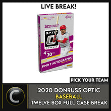 Load image into Gallery viewer, 2020 DONRUSS OPTIC BASEBALL 12 BOX (FULL CASE) BREAK #A881 - PICK YOUR TEAM